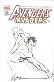 Avengers Invaders #1 Dynamic Forces Authentix Variant Signed Watson Remarked Sub-Mariner Sketch